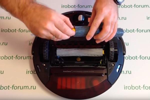 Отсутствие вращения щеток на роботизированном пылесосе iRobot