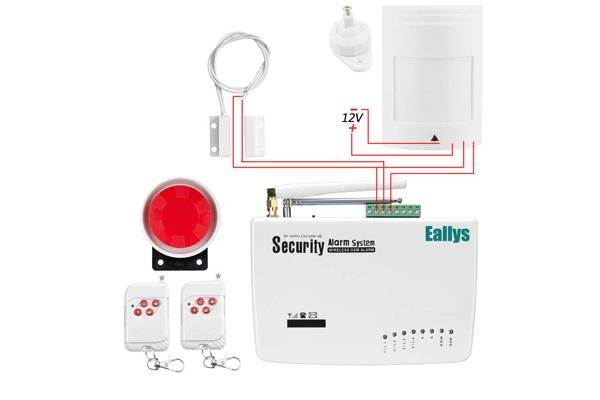 Электронная схема подключения GSM сигнализации FUERS GSM10A