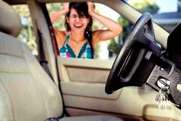 Обращение в службу вскрытия из-за захлопывания двери автомобиля
