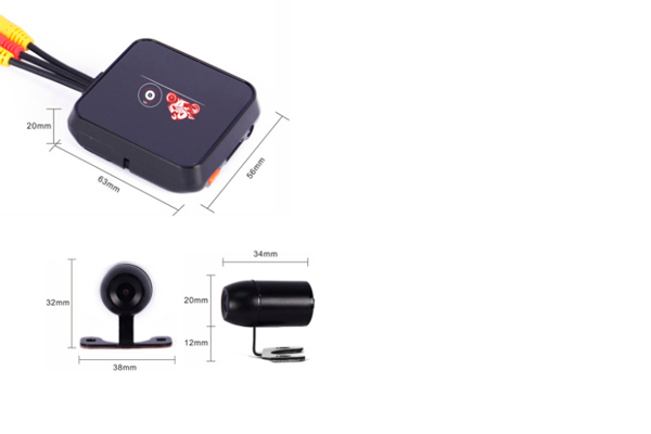 Габаритные размеры видеорегистратора для мотоцикла Vsys-M6L