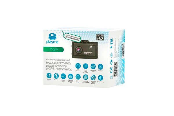 Видеорегистратор Playme P570SG в упаковке