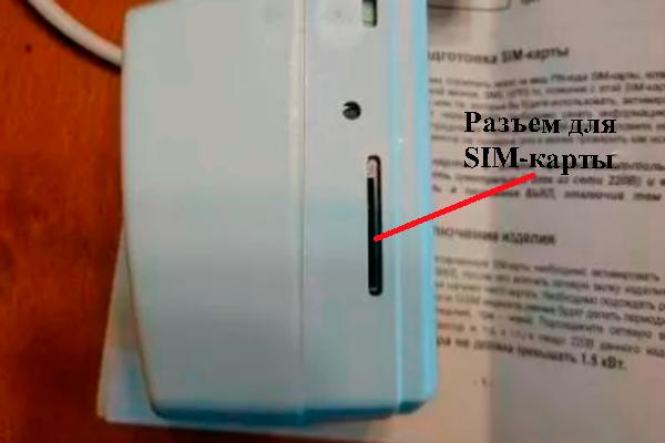 Разъем для SIM-карты умной розетки Домовой