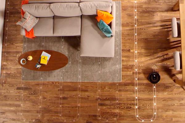 Режим уборки роботизированного пылесоса iRobot Roomba 980