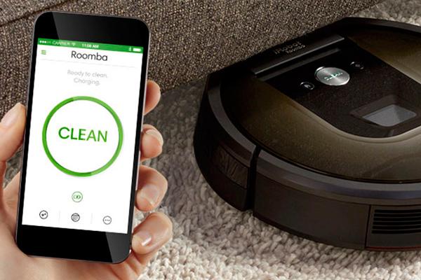 Управление умным пылесосом iRobot Roomba 980 с помощью смартфона
