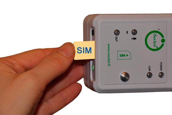 Установка SIM-карты в GSM розетку iSocket 707 HomeGuard