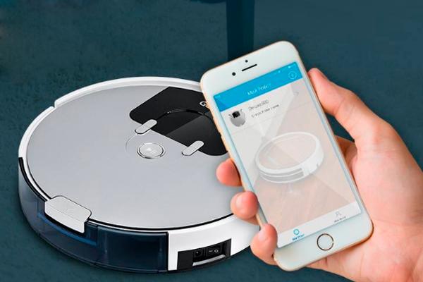 Управление роботизированным пылесосом Genio Deluxe 500 с помощью смартфона
