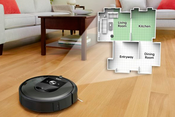 Технология Imprint Smart Mapping робопылесоса iRobot Roomba i7