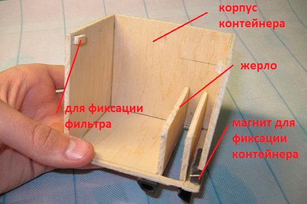 Устройство контейнера для мусора робота-пылесоса своими руками