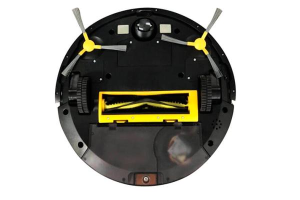 Вид с под низу робота-пылесоса Panda X7
