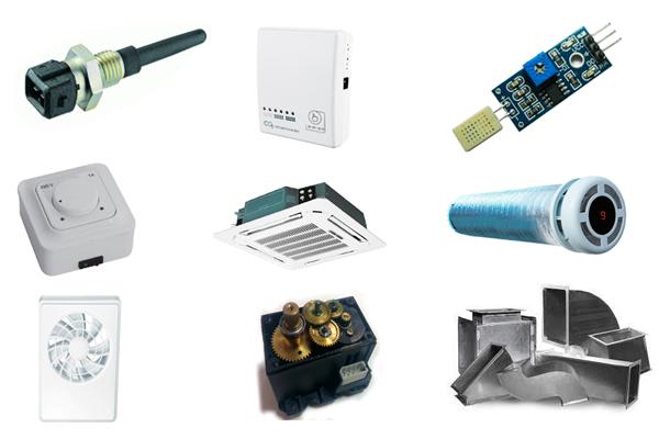 Необходимое оборудование для системы вентиляции в умном доме