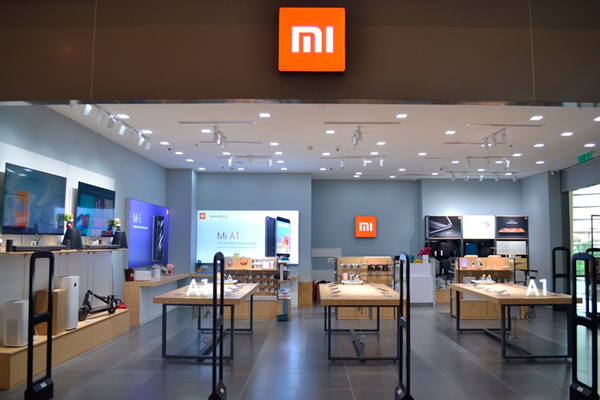 Магазин с продукцией компании Xiaomi