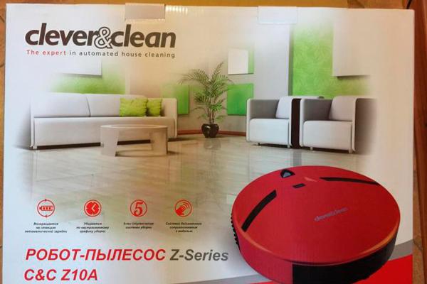 Робот-пылесос Clever Clean Z10A в коробке