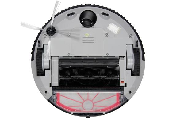 Вид с под низу робота-пылесоса Clever Clean Z10A