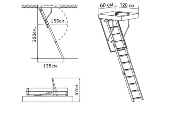 Необходимые размеры наружных пожарных лестниц