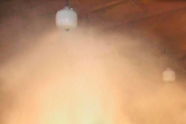 Плохая видимость при срабатывании автоматической системы порошкового пожаротушения
