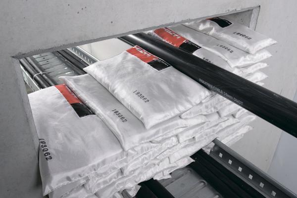 Защита кабельных линий огнезащитными подушками