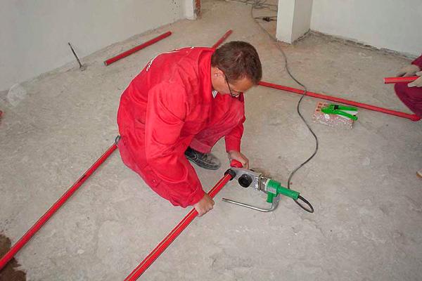 Монтаж полипропиленовых труб для противопожарной системы