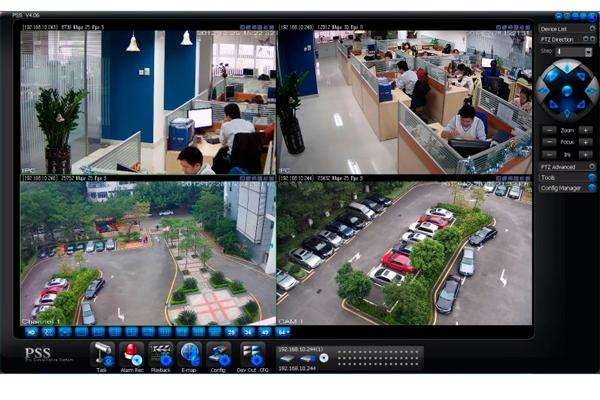 Наблюдение за объектами с помощью программы Dahua Smart PSS
