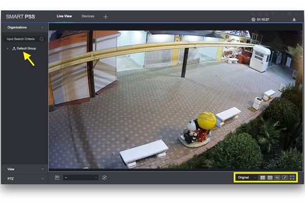 Онлайн просмотр изображения через программу Dahua Smart PSS