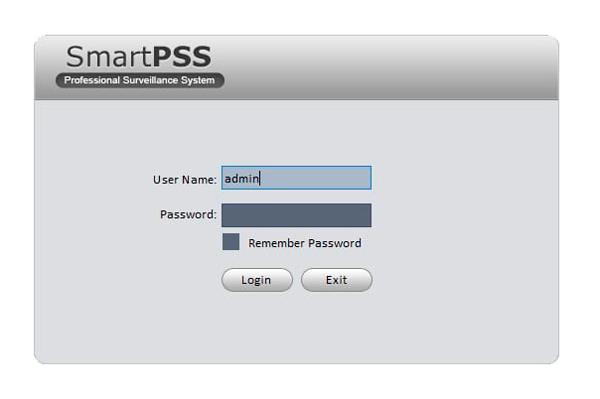 Запуск программы Smart PSS