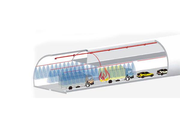 Применение противопожарной завесы в транспортных туннелях