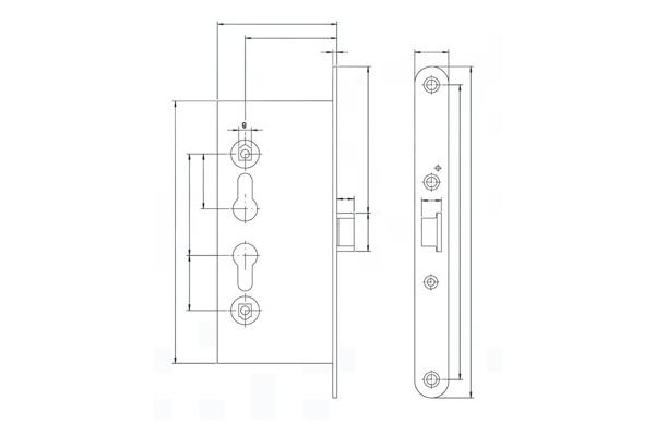 Схема устройства противопожарного замка