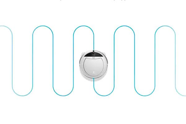 Смарт-планирование маршрута роботизированным пылесосом Xiaomi Viomi Internet Robot Vacuum Cleaner VXRS01