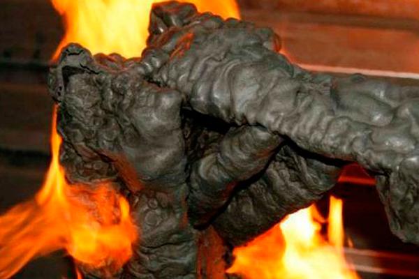 Результат воздействия огня на противопожарную смесь