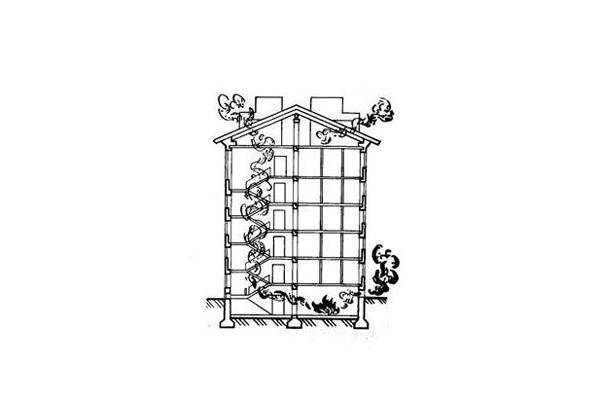 Процесс пожара в подвальном помещении