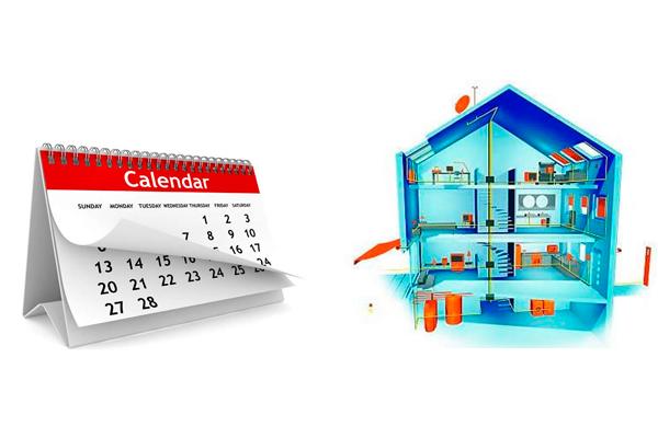 Календарные сроки проектирования и установки системы Умный Дом