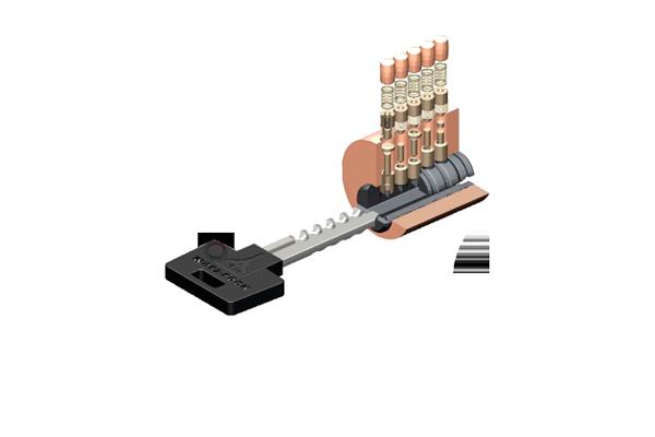 Цилиндрический ключевой замок для огнезащитного сейфа