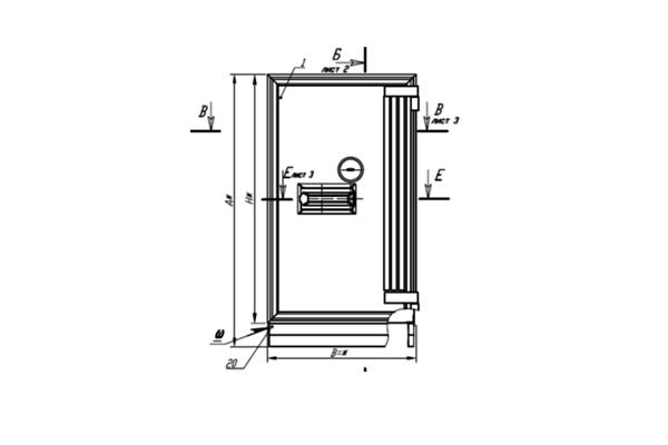Схема устройства сейфа 1 класса взломостойкости