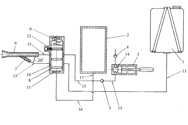 Схема устройства ранцевого огнетушителя