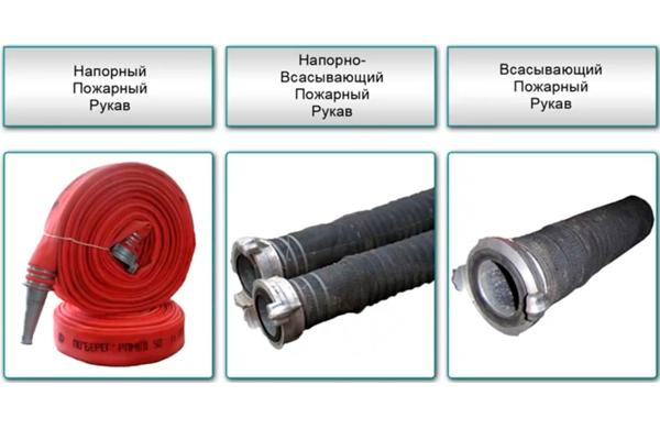 Классификация пожарных рукавов по назначению