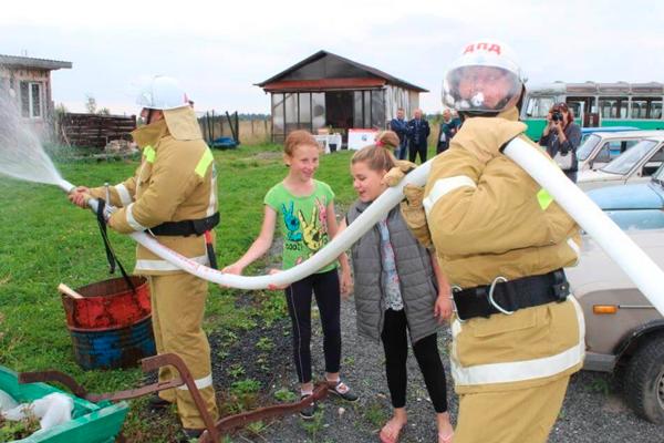 Практические занятия для проверки готовности Добровольной пожарной охраны