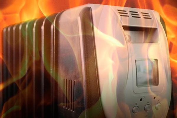 Пожар в следствии теплового воздействия обогревателя