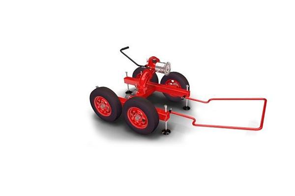 Возимый лафетный пожарный ствол ЛС-С100УВ