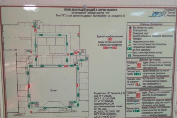 План эвакуации при пожаре в торговом центре