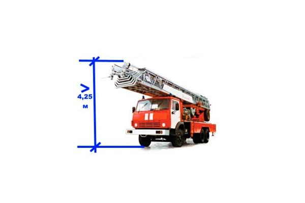 Необходимая высота для проезда пожарной техники