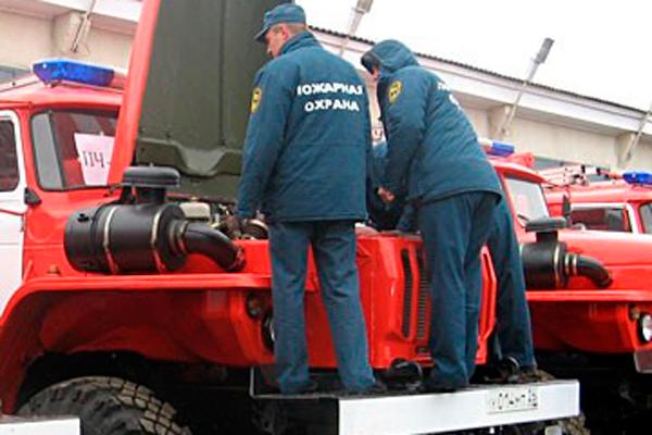 Ежедневное техническое обслуживание пожарных автомобилей