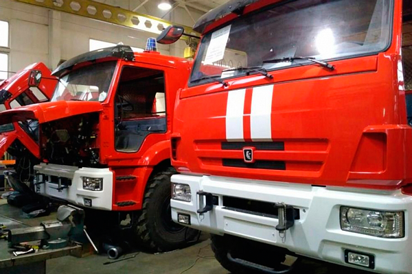 Техническое обслуживание пожарных автомобилей на хранении