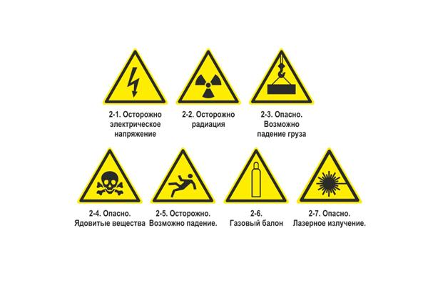 Предупреждающие знаки пожарной безопасности