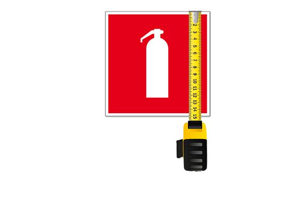 Размеры пожарных знаков