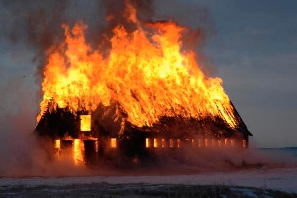 Возгорание деревянных конструкций