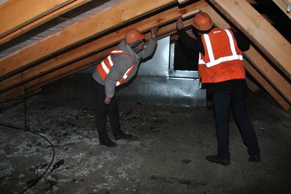 Проверка чердачного помещения на пожарную безопасность по окончанию процедуры обработки