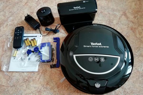 Комплектация роботизированного пылесоса Tefal Smart Force Extreme RG7145RH