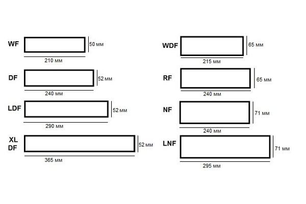 Размеры клинкерной огнеупорной плитки