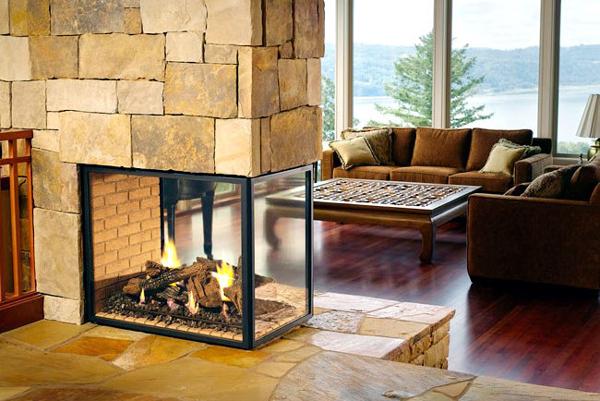 Применение жаростойкого стекла для камина