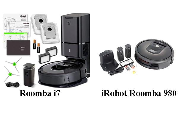 Сравнение комплекта поставки роботов пылесосов iRobot Roomba i7 и Roomba 980