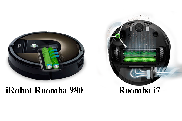 Сравнение процессов работы роботизированных пылесосов iRobot Roomba 980 и Roomba i7